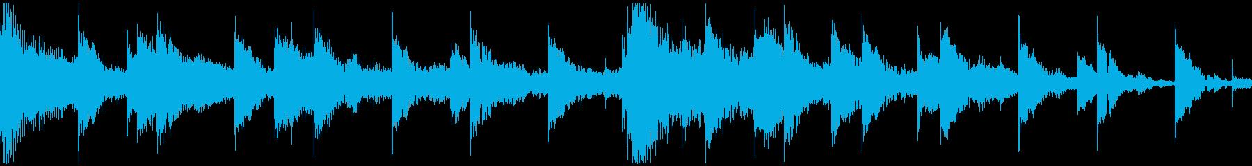 <ショートループ> ピアノ②+ビートAの再生済みの波形