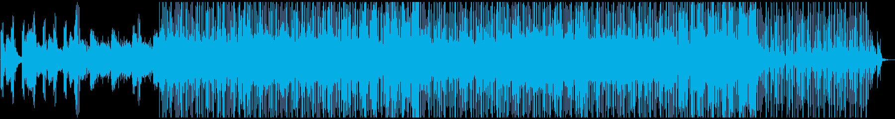 力強いグラウンドビート、甘く漂うコードの再生済みの波形
