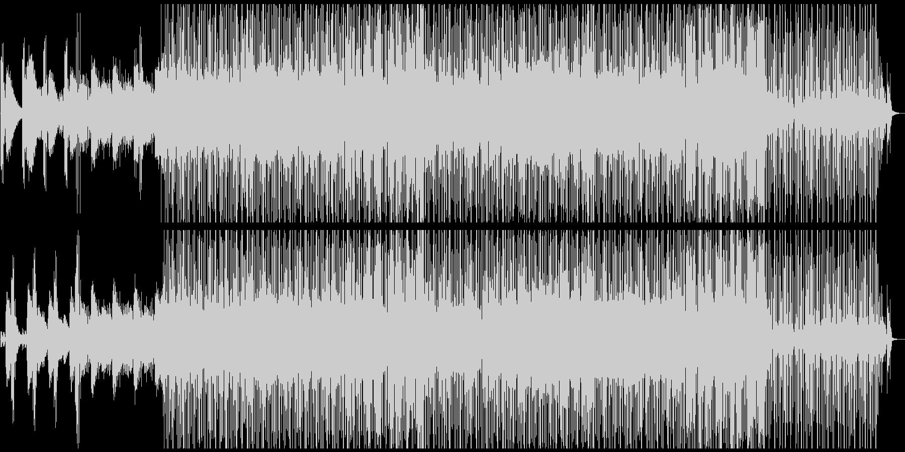 力強いグラウンドビート、甘く漂うコードの未再生の波形
