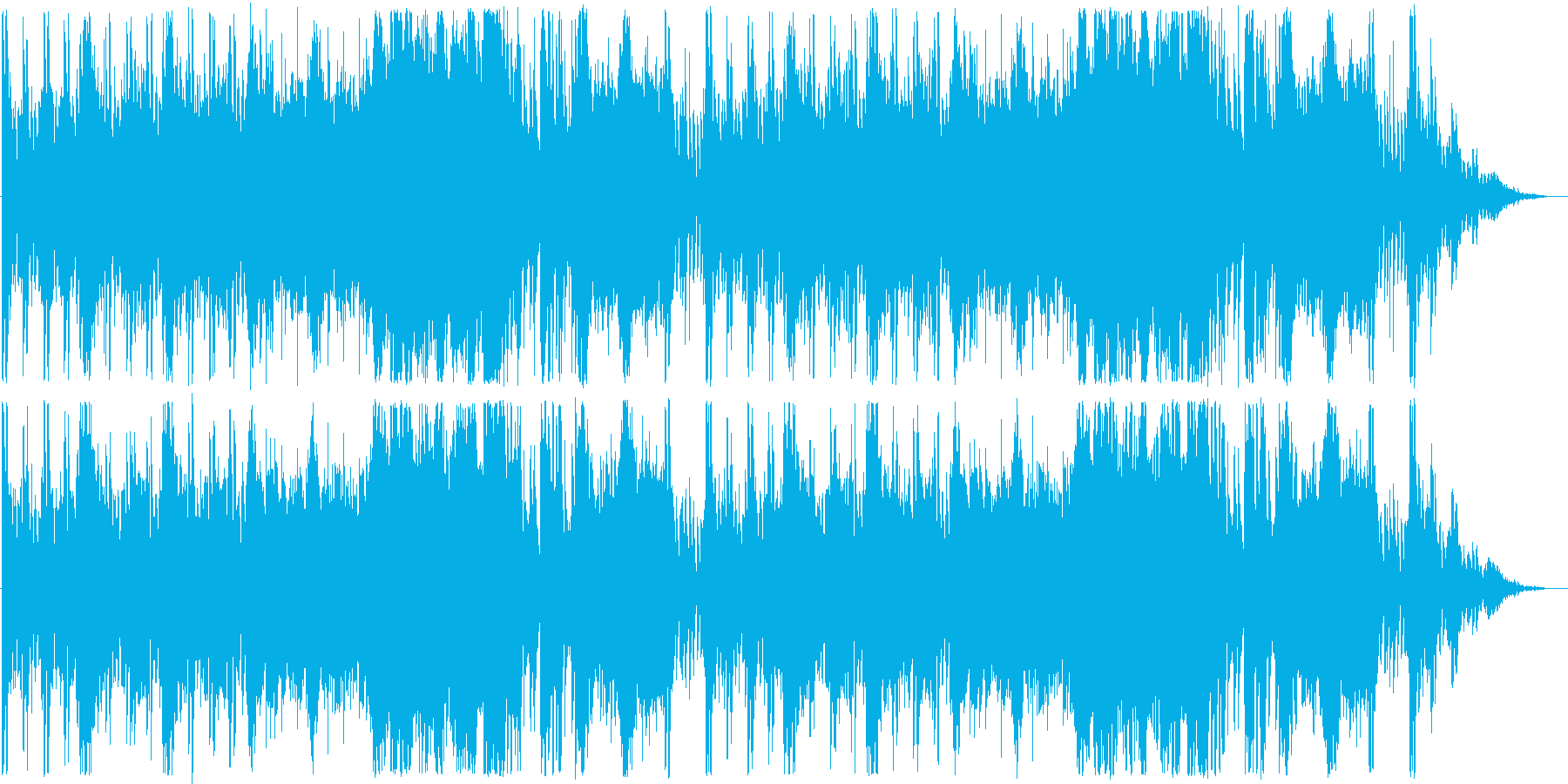 RPGバトル向けBGMの再生済みの波形