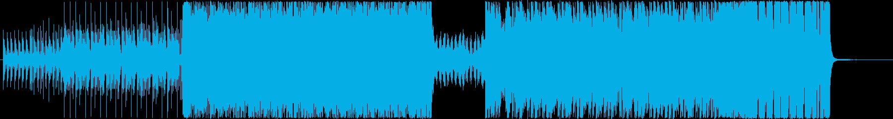 アクションに富んだTechnoBGMの再生済みの波形