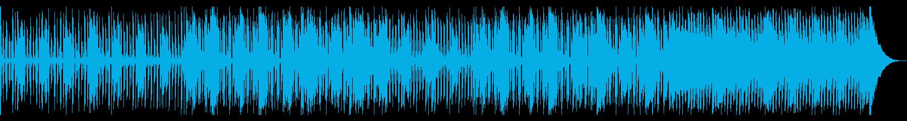 クリーンギターで南国の風情の再生済みの波形