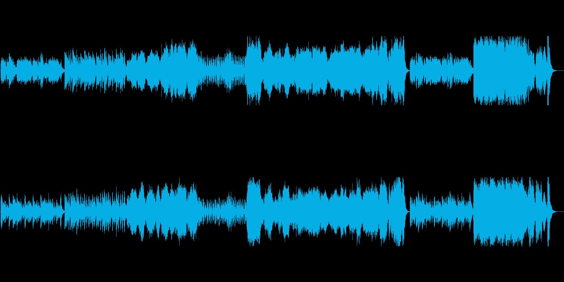 楽しさと不気味さが混在するハロウィンの曲の再生済みの波形