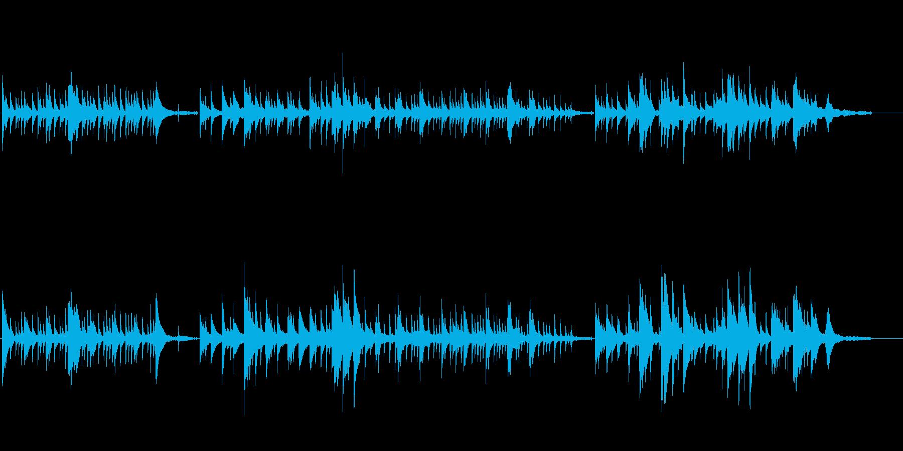 しっとりバラードなピアノ2の再生済みの波形