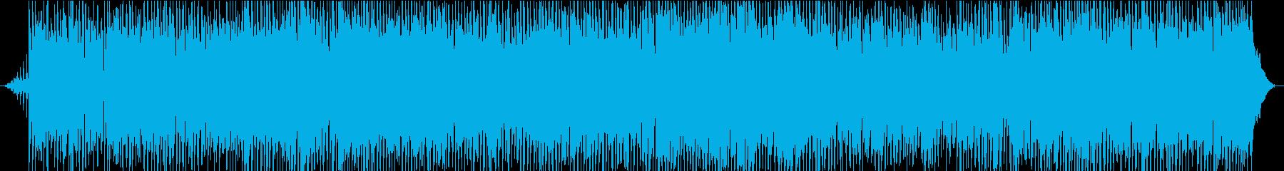 軽快なクリスマスポップスの再生済みの波形