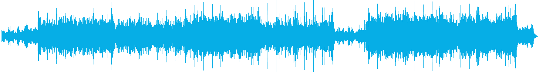 壮大で神秘的な和を感じるシンセの曲の再生済みの波形