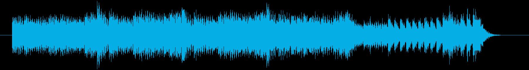 強い風をイメージした速いピアノジングルの再生済みの波形