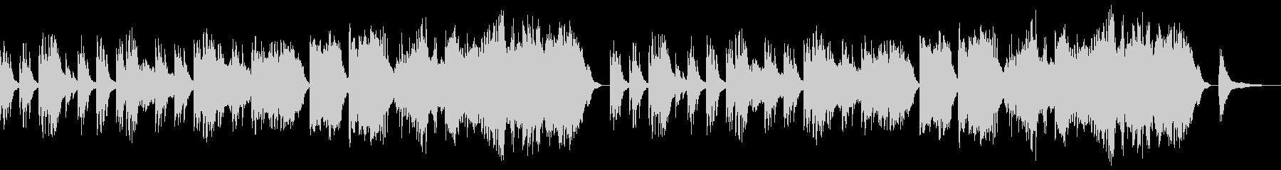 切ない系のBGMの未再生の波形