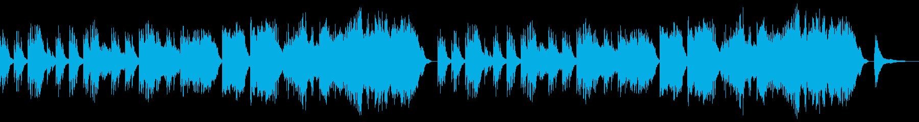 切ない系のBGMの再生済みの波形