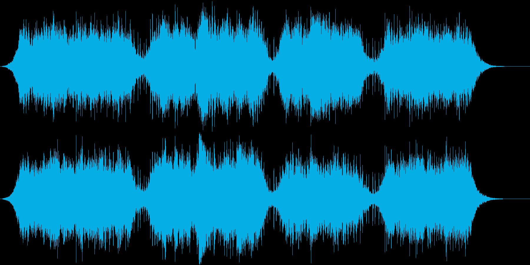 アンビエントなパッド系BGMの再生済みの波形