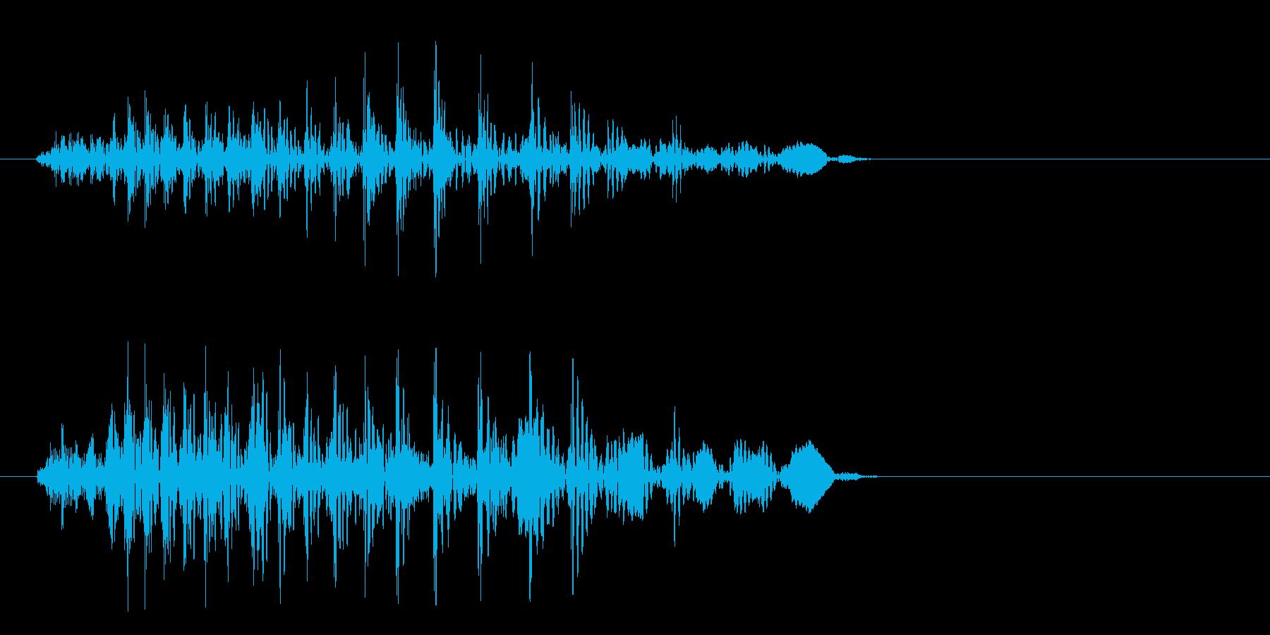 ちゃわ(宇宙人の発声)の再生済みの波形