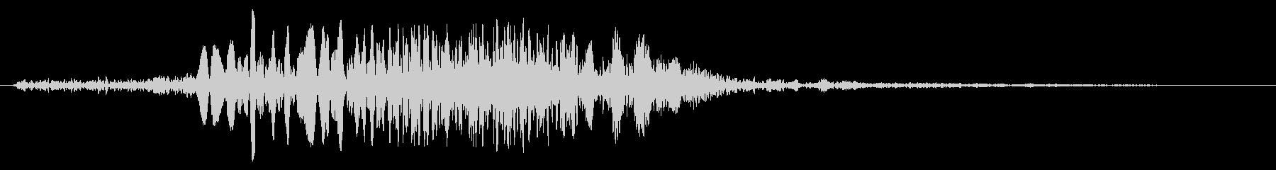時代劇の合戦シーンの効果音の未再生の波形