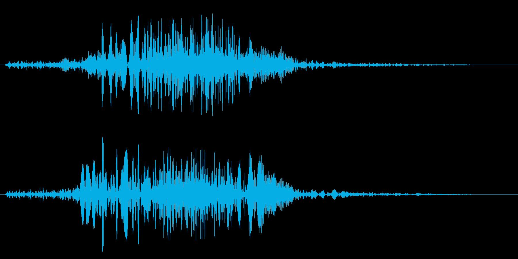 時代劇の合戦シーンの効果音の再生済みの波形