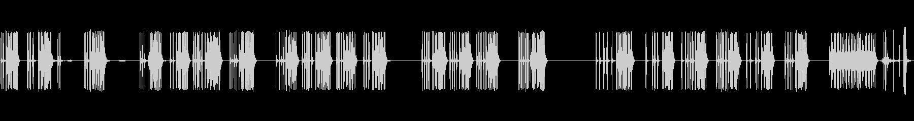 プリンターを備えた電子計算機:さま...の未再生の波形