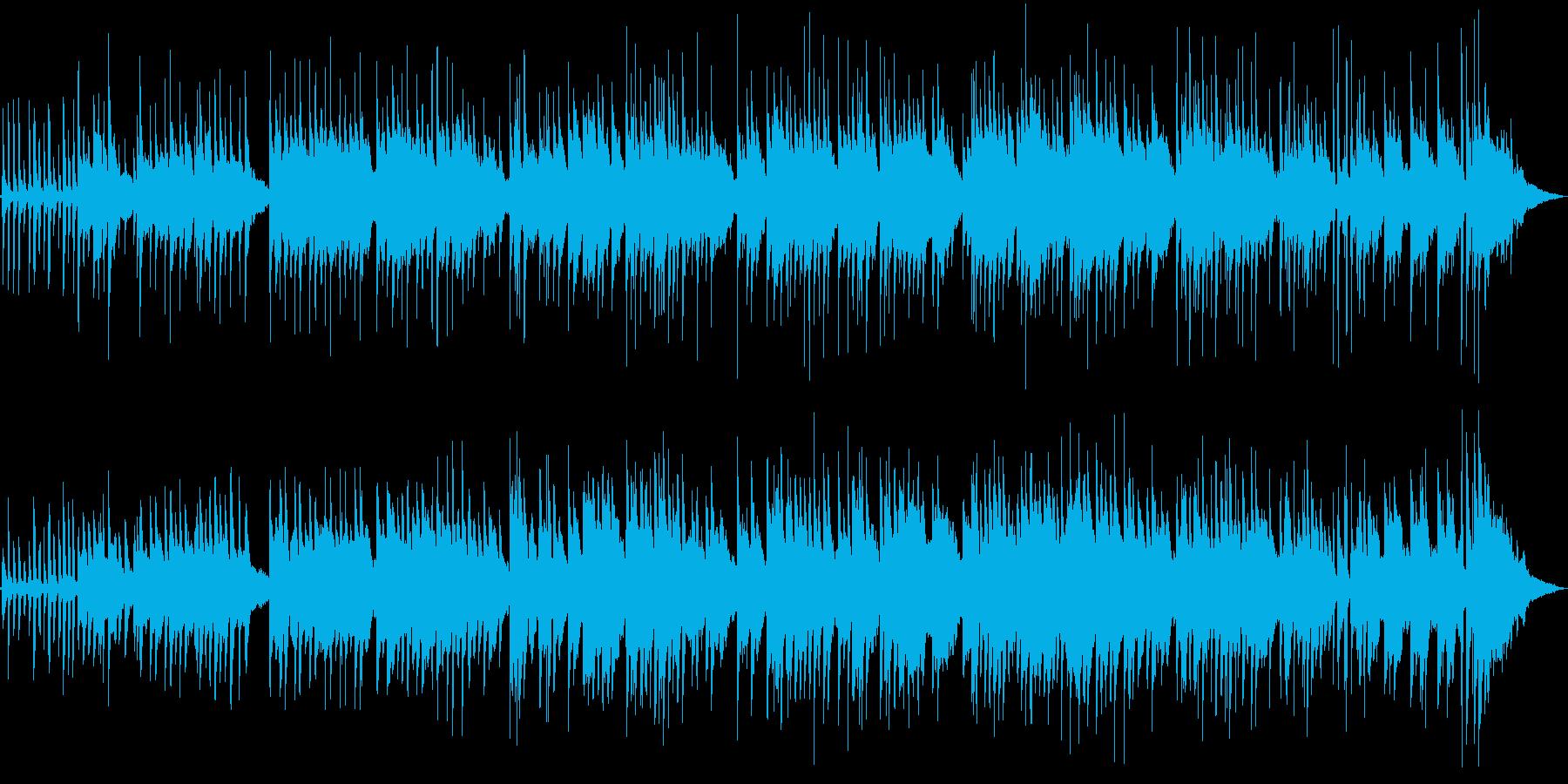 ゆったりスローテンポな、明るいピアノソロの再生済みの波形