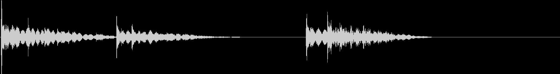【生録音】ワイングラスの音22 遅延乾杯の未再生の波形