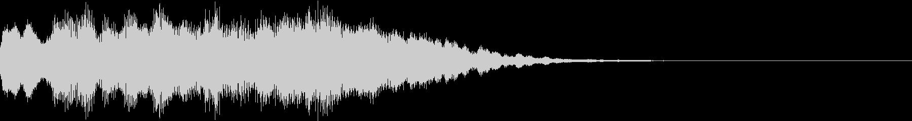 神秘的なクリスタル音01- ジングルCMの未再生の波形