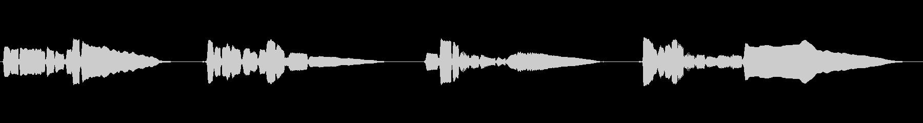 サックスソロ演奏です。暗めのメロの未再生の波形