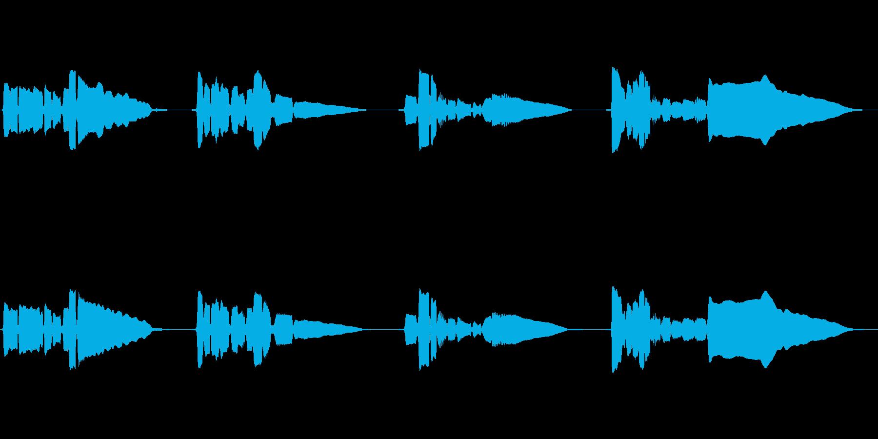 サックスソロ演奏です。暗めのメロの再生済みの波形
