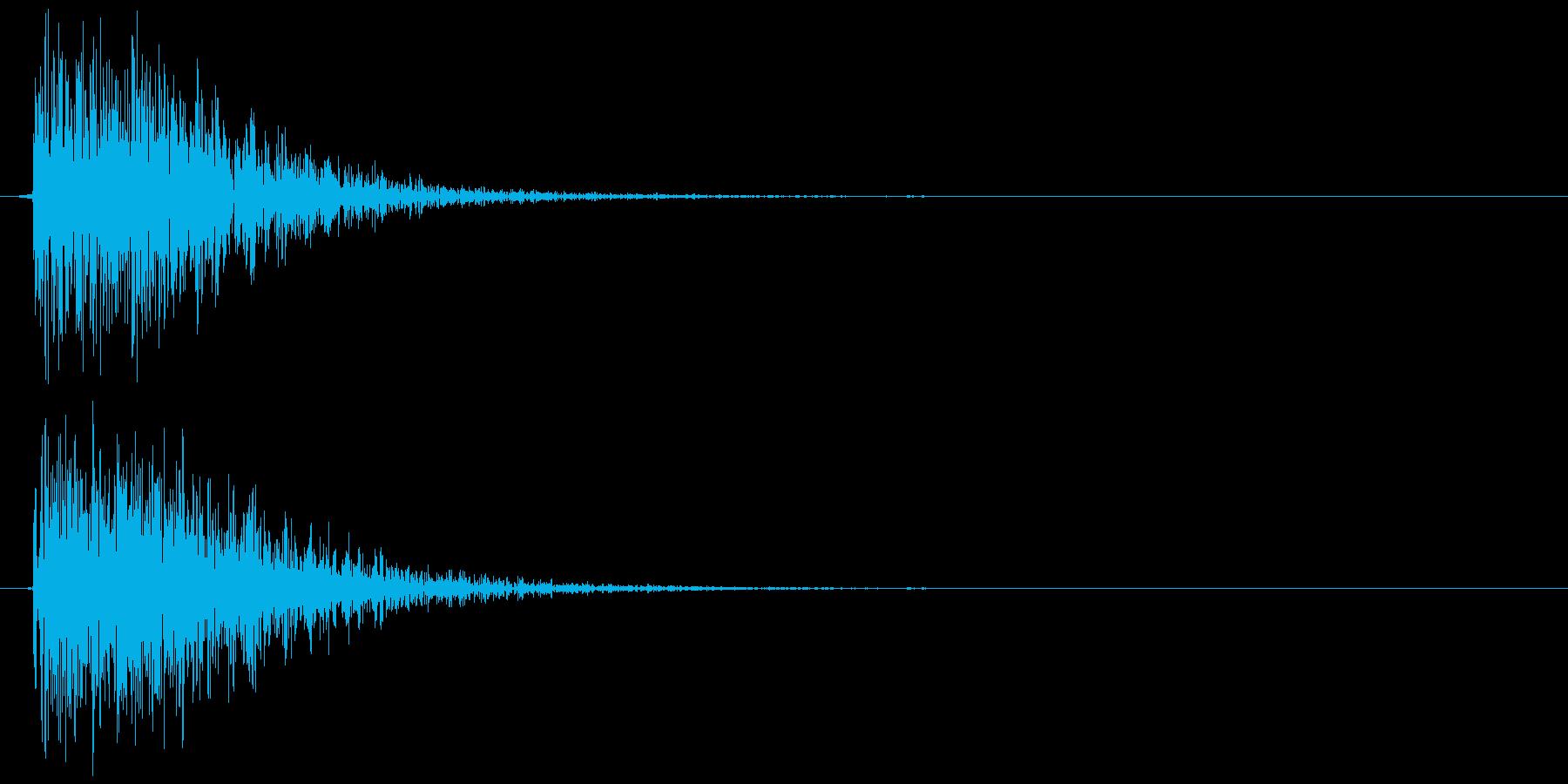 クラッカーの音 パン (リアル風)の再生済みの波形