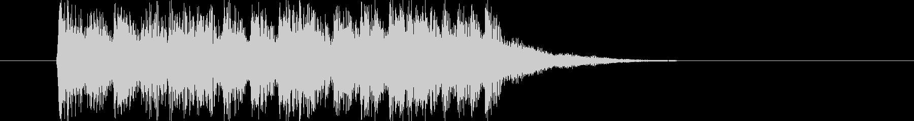 ドキドキと煌きのジングルの未再生の波形