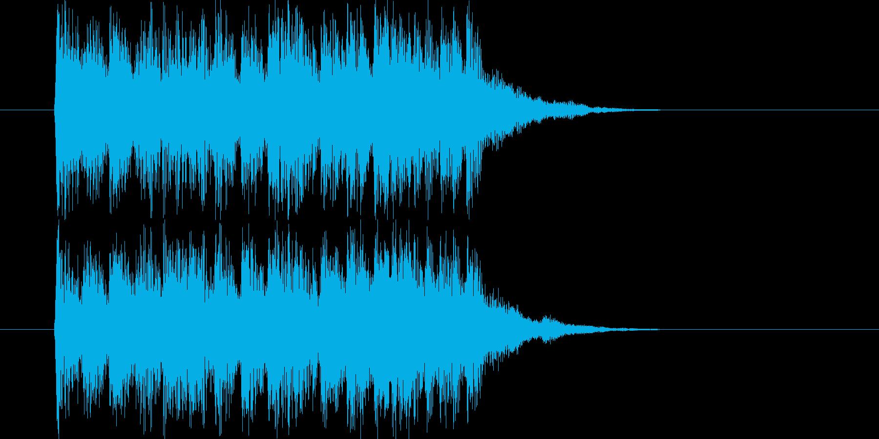 ドキドキと煌きのジングルの再生済みの波形