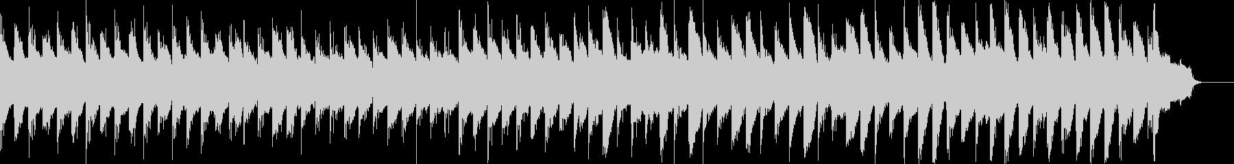切ない雰囲気のアコギピアノストリングスの未再生の波形