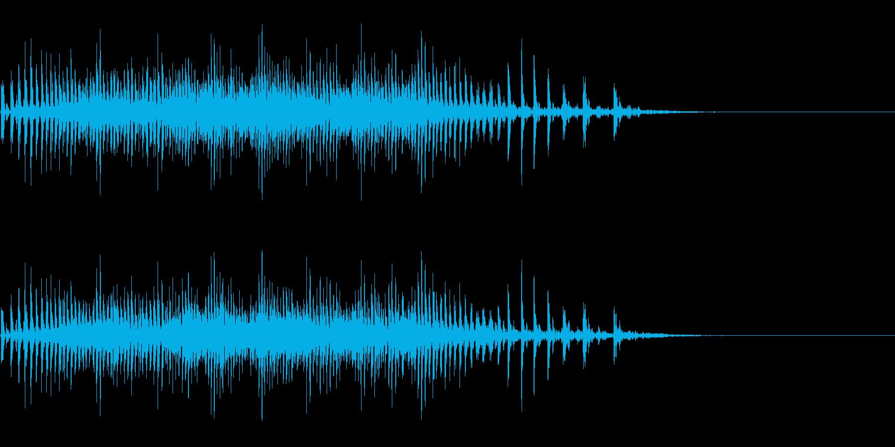 [生録音]魚釣り、リールを巻く11の再生済みの波形