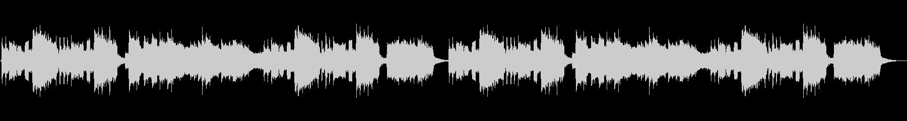 クラリネットが印象的なアニメ風ジングルの未再生の波形