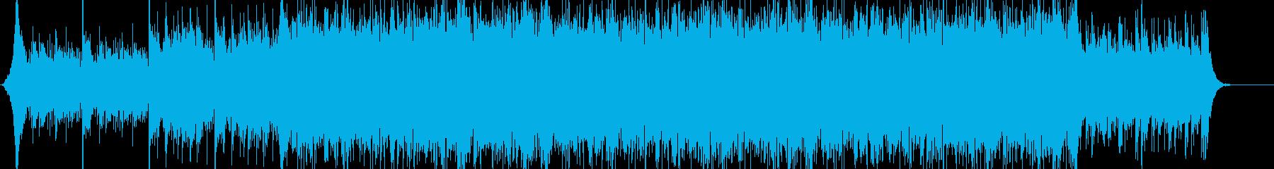 サスペンス系 スリリングで緊迫した曲の再生済みの波形