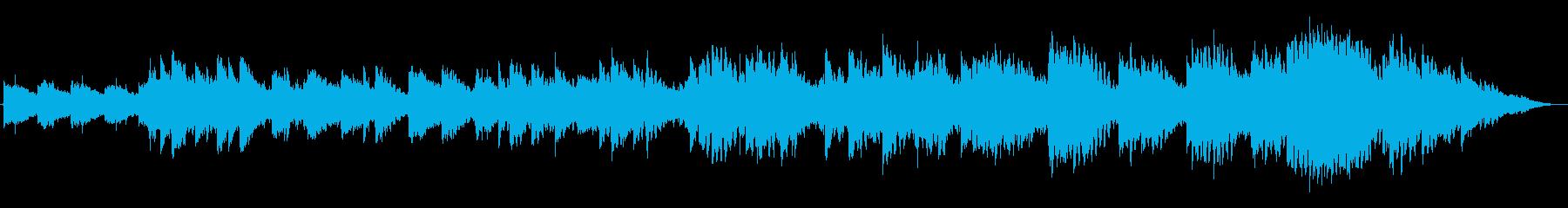 雪原・神秘・幻想的で物悲しいフィールド曲の再生済みの波形