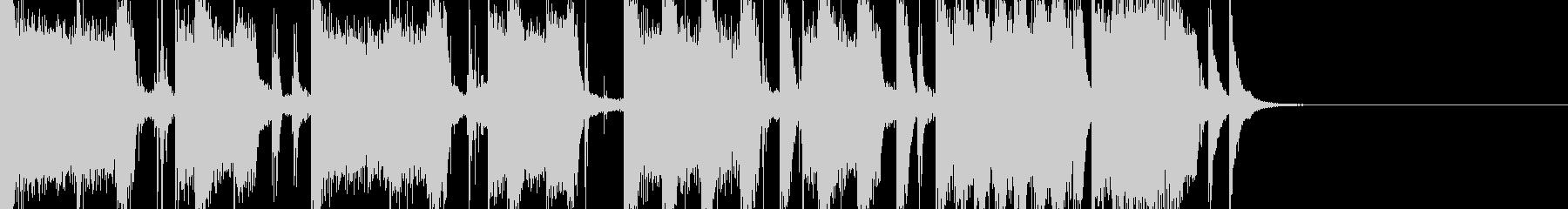 ロックっぽいジングルの未再生の波形