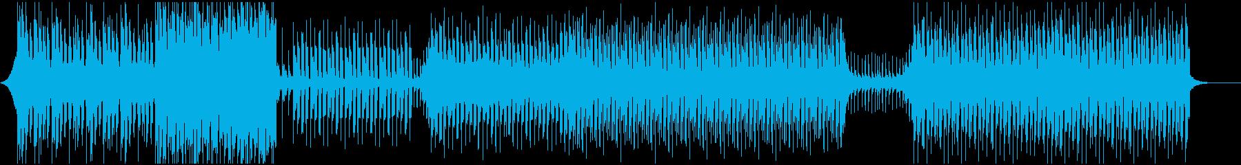 スタイリッシュなトロピカルハウスの再生済みの波形