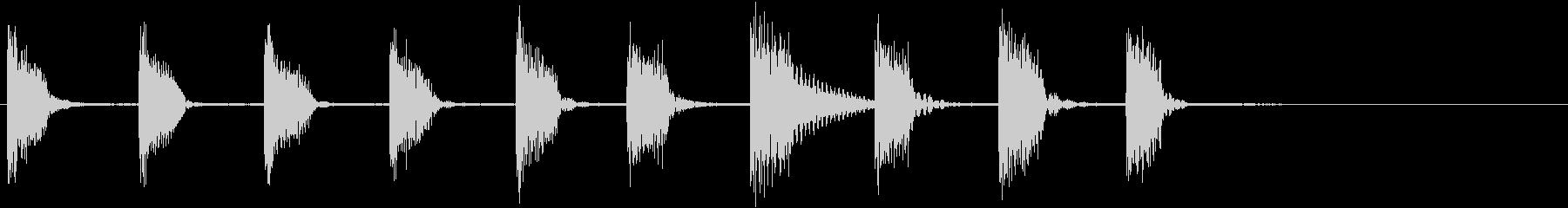 エレキギター:笑いアクセント、漫画...の未再生の波形