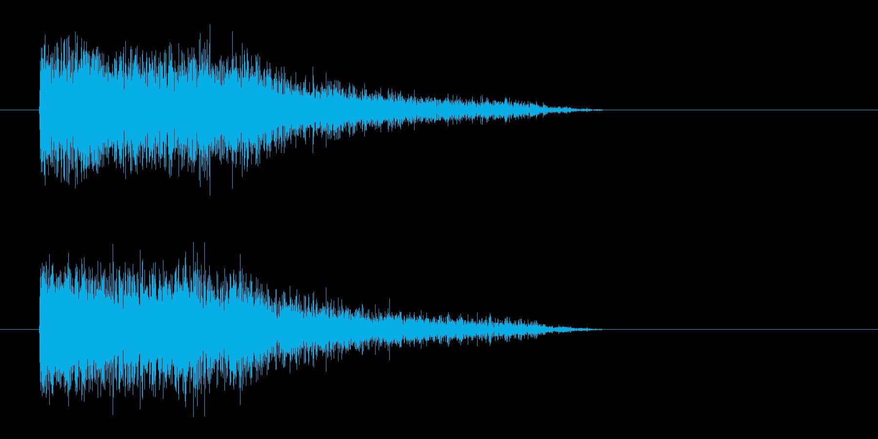レーザー音-81-3の再生済みの波形