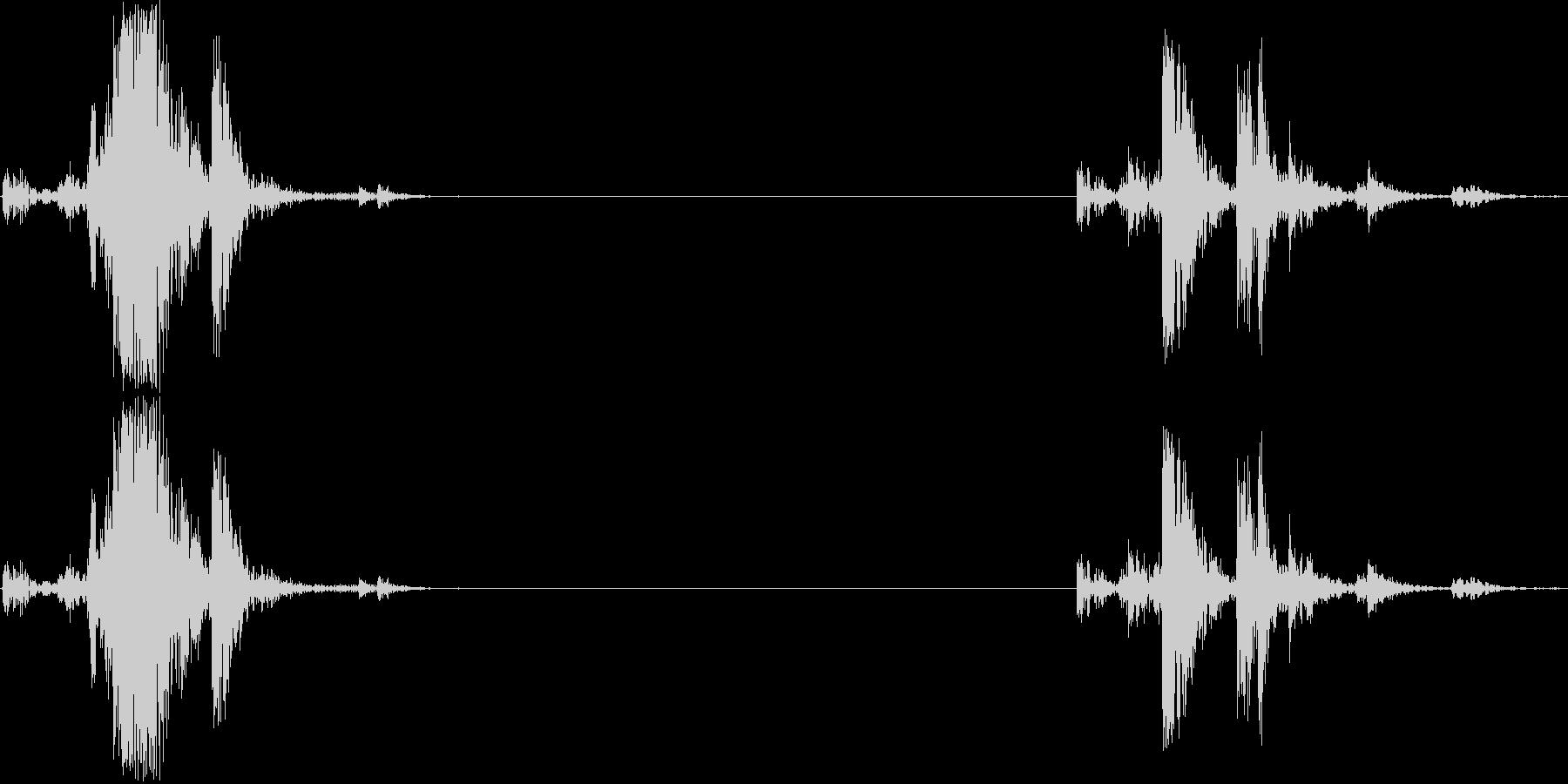 オーディオカセットプレーヤー1;テ...の未再生の波形