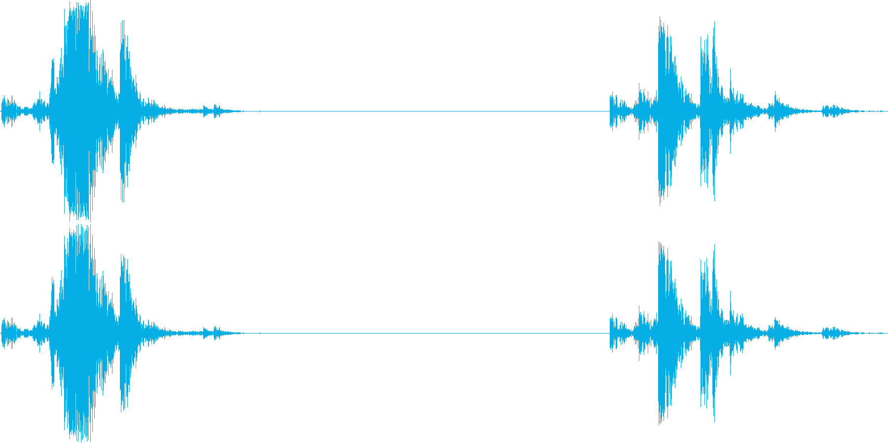 オーディオカセットプレーヤー1;テ...の再生済みの波形