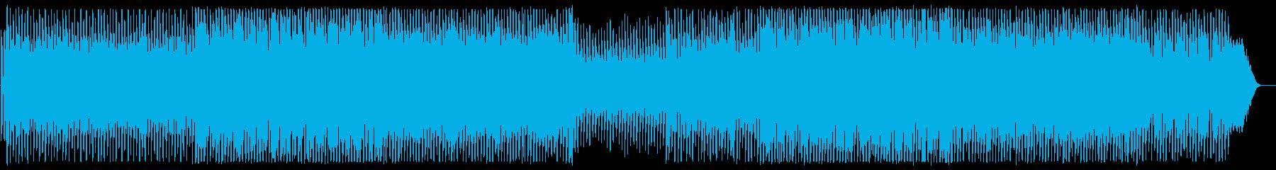 明るい夢のあるシンセサイザーの曲の再生済みの波形