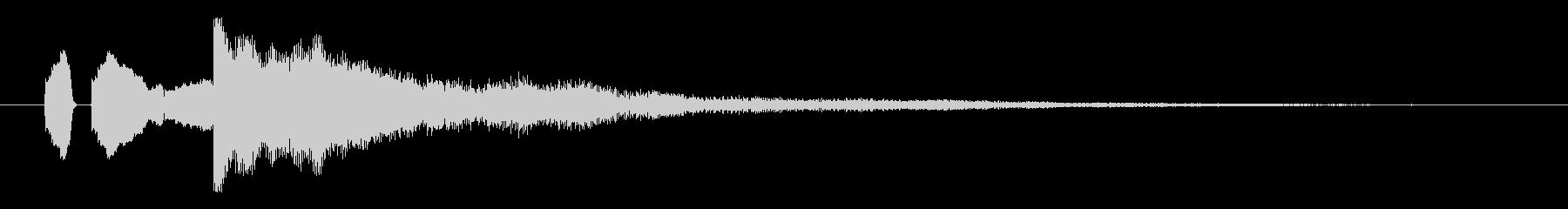 ピロン!決定/ボタン/クリック効果音6の未再生の波形