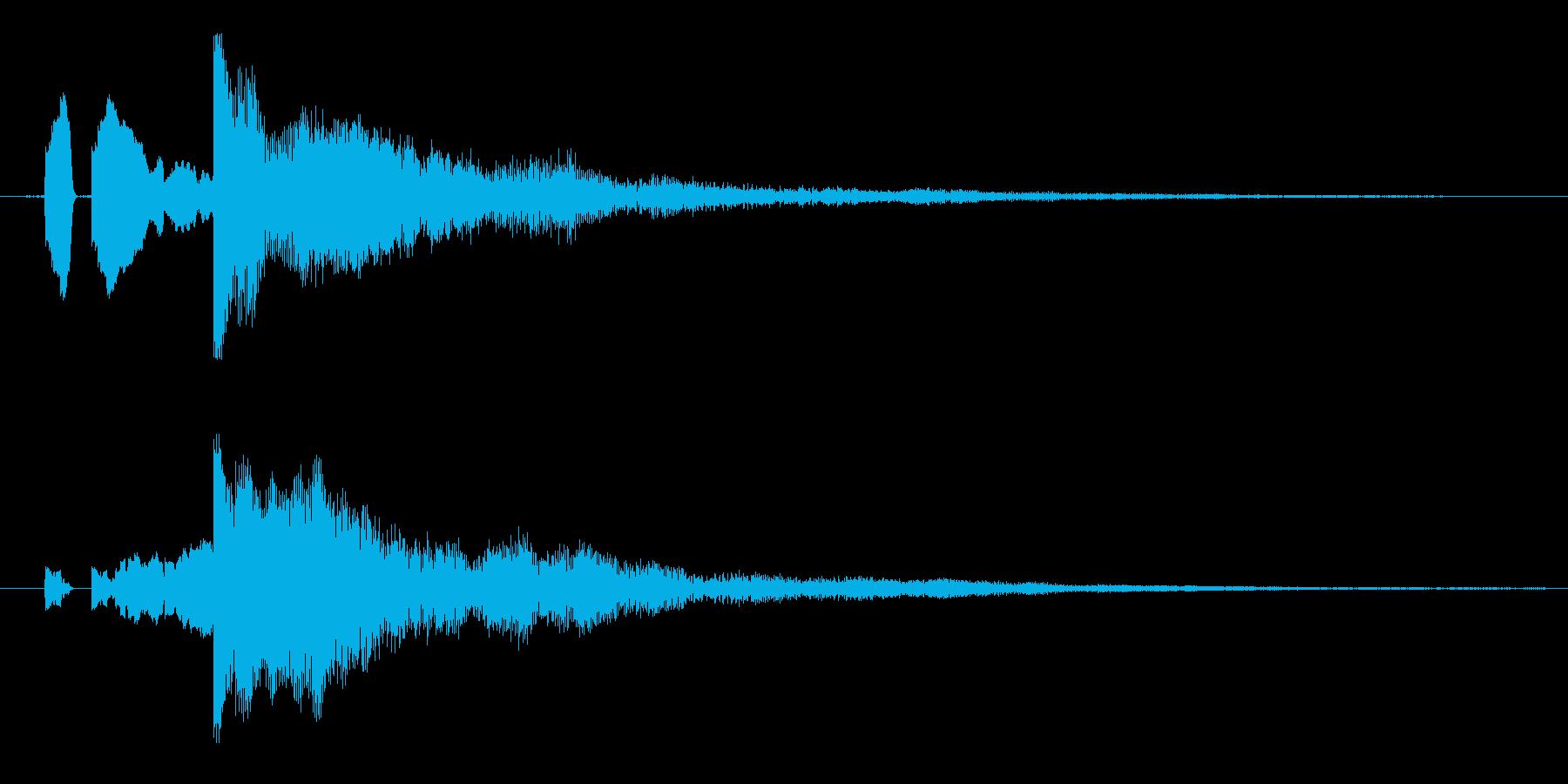 ピロン!決定/ボタン/クリック効果音6の再生済みの波形