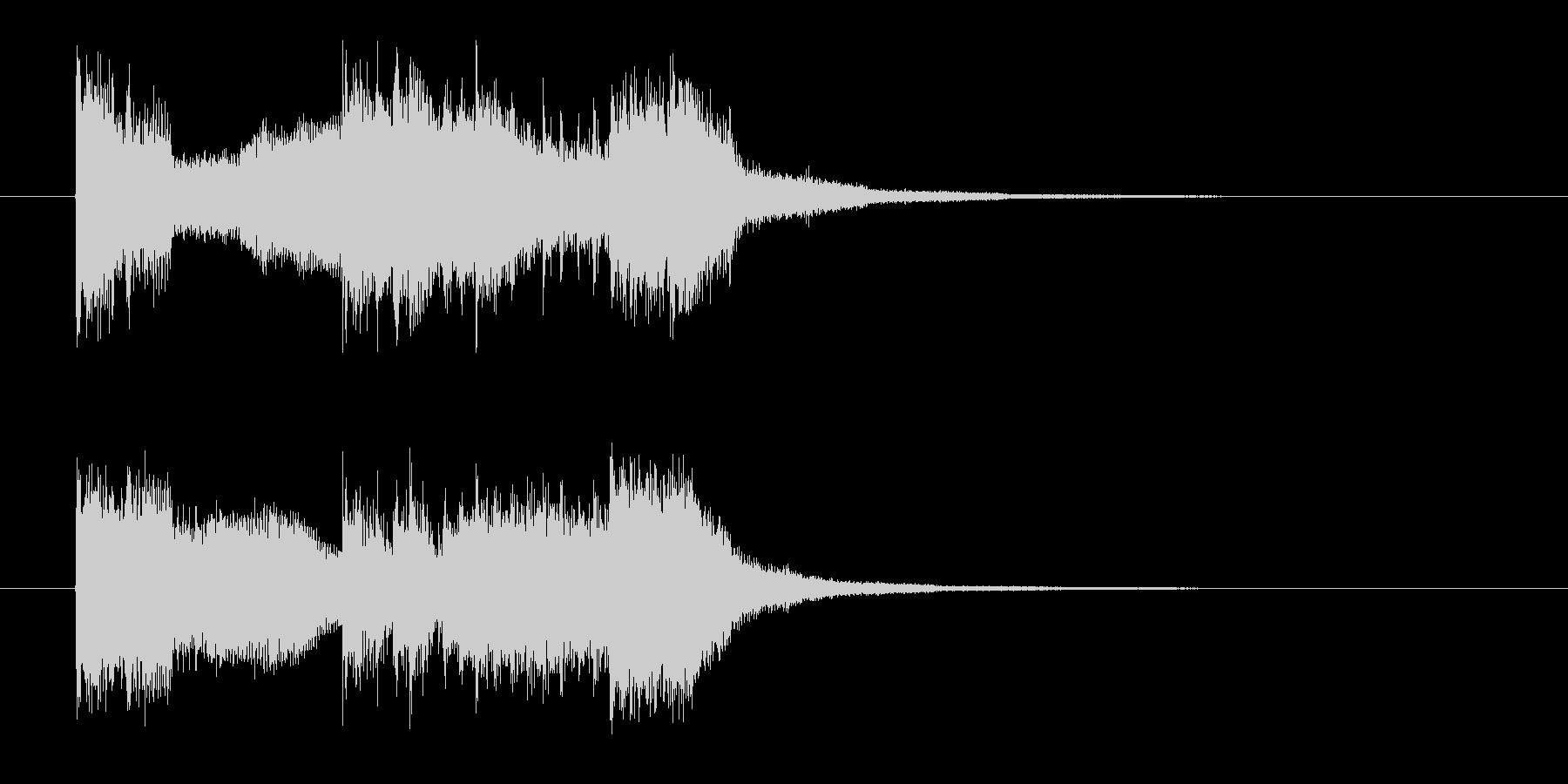 激しいロックのジングル曲、サウンドロゴの未再生の波形