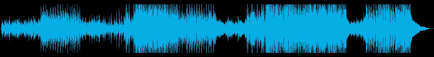 メロディ重視のアコースティック曲の再生済みの波形
