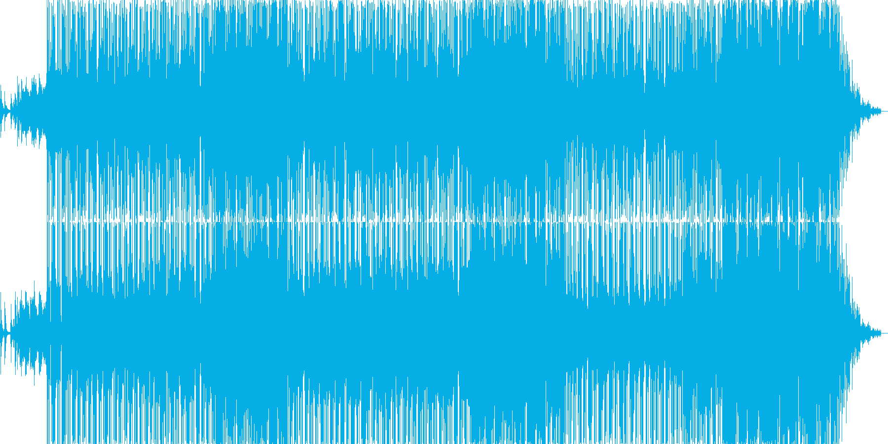 ピアノとシンセのハイブリッドなバラードの再生済みの波形