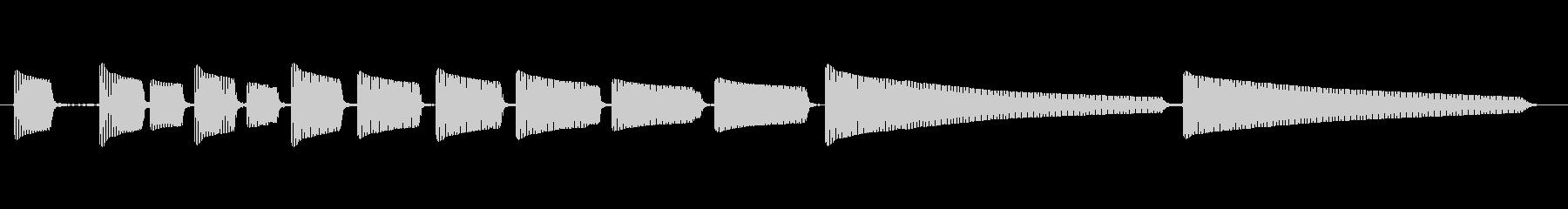エレキギター5弦チューニング3の未再生の波形