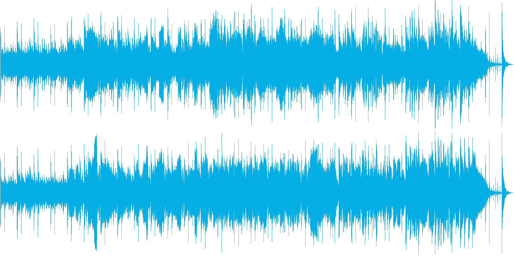 ファンタジー感のある神秘的な森林の曲の再生済みの波形