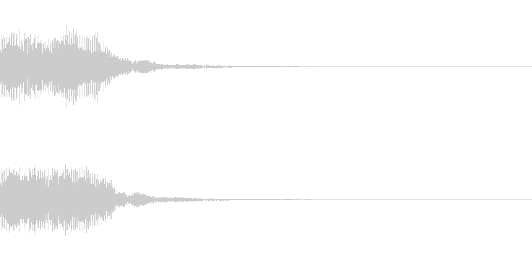 シンセサイザー 決定スタートセレクト1の未再生の波形