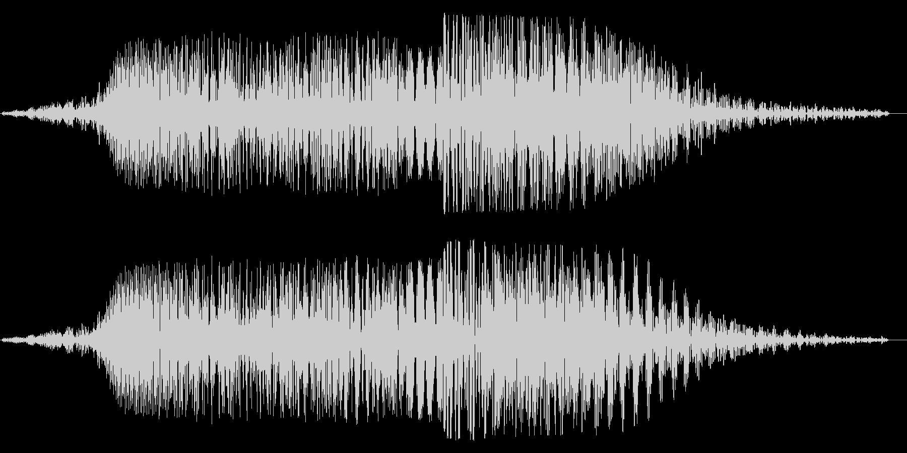 ブーンゴワーン(電子音とこもり音の合体)の未再生の波形