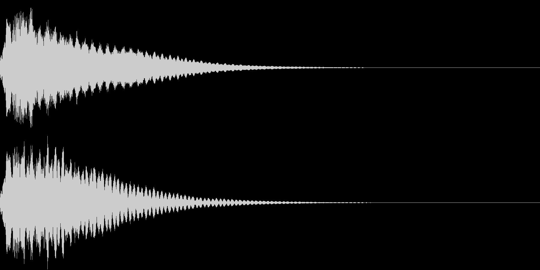 キュイン ボタン ピキーン キーン 12の未再生の波形