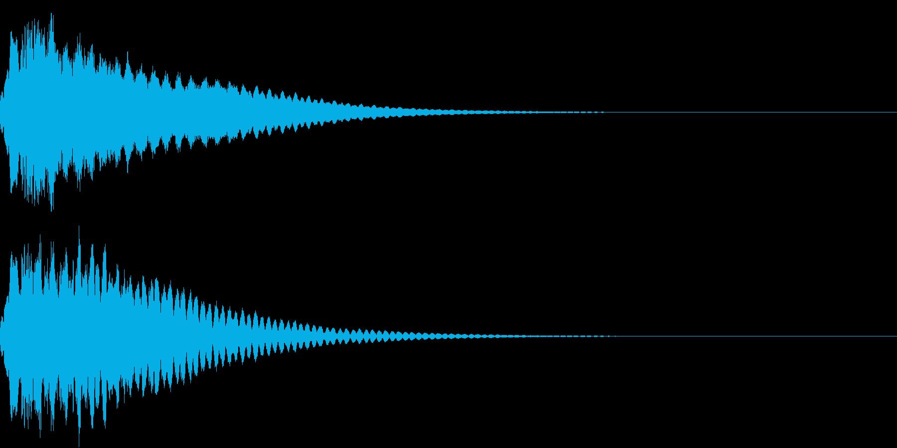 キュイン ボタン ピキーン キーン 12の再生済みの波形