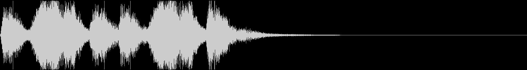 劇的な雰囲気のオーケストラ・ジングルの未再生の波形